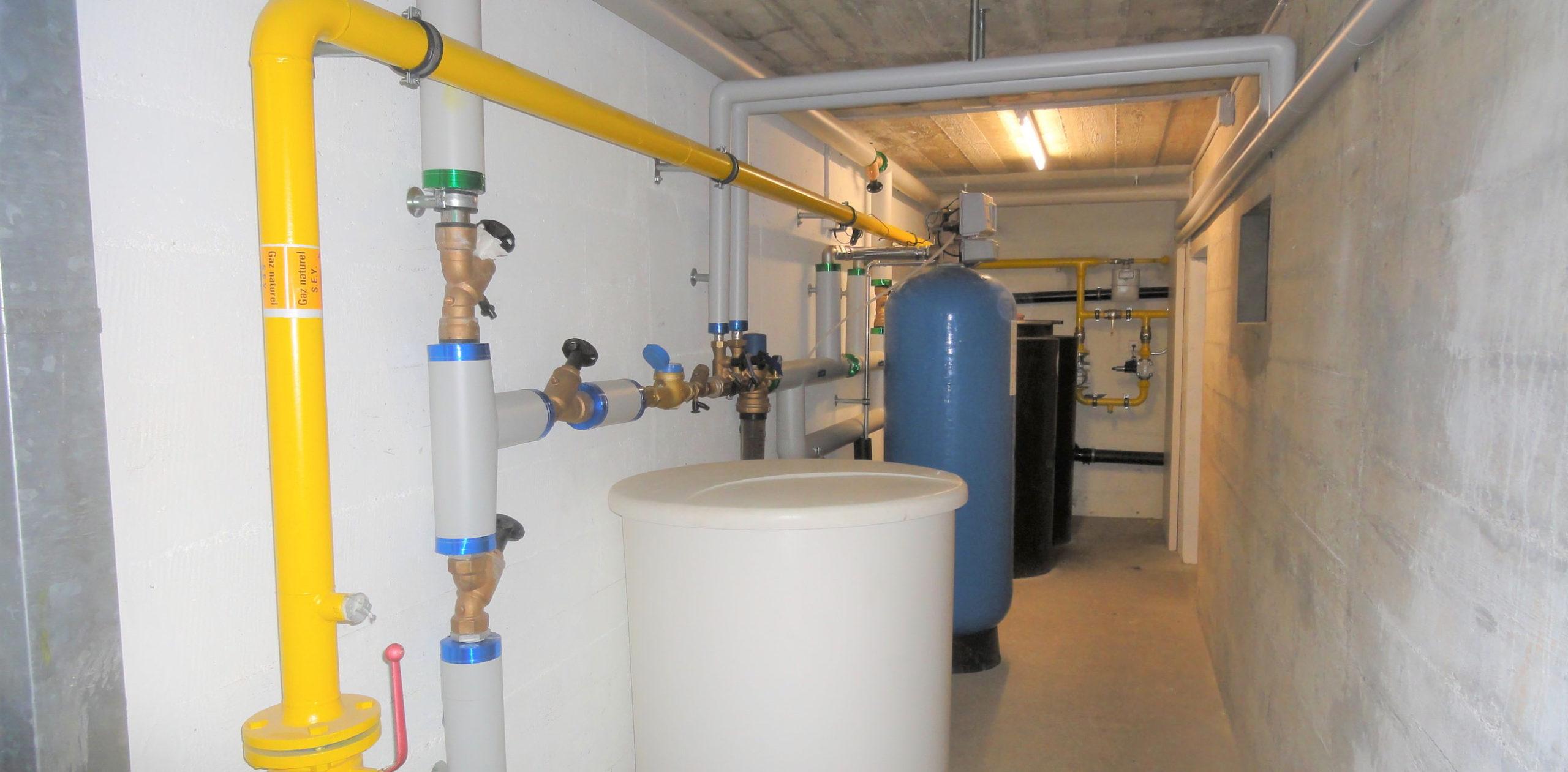 Réseau d'eau Käslin Sanitaires SA